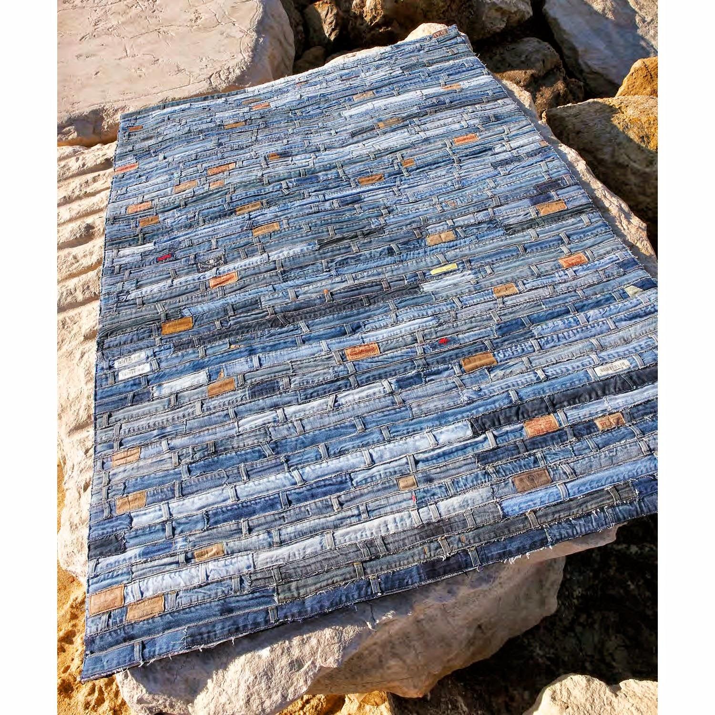 tapetes feitos com retalhos de jeans