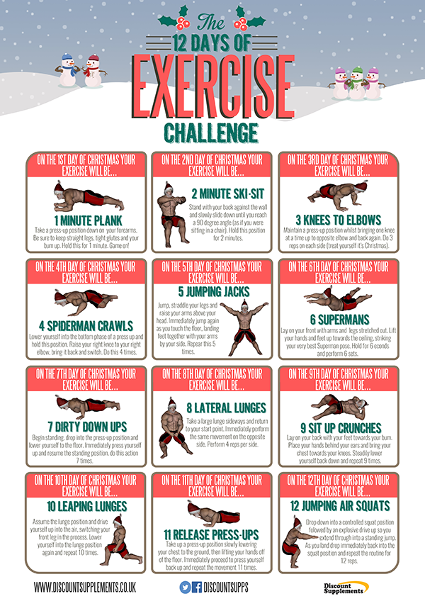 The Exercises Are Simple But Fairly Challenging And Require No Equipment Ill Be Attempting Each Of Daily On Lead Up To Christmas