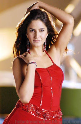 katrina kaif hot pics in a hot red top exposing