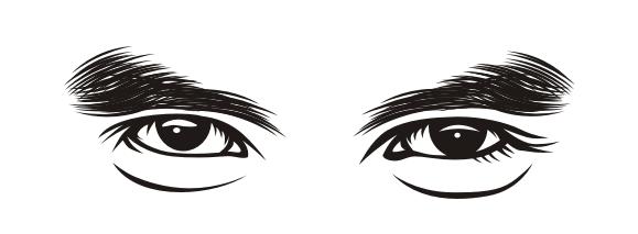 Line Art Vector Tutorial : Cara menggambar alis mata vector line art teknik arsiran