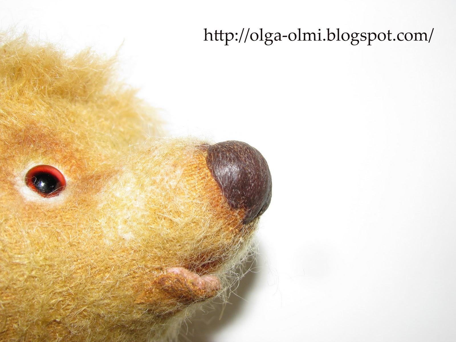 Как сделать нос у мишки тедди
