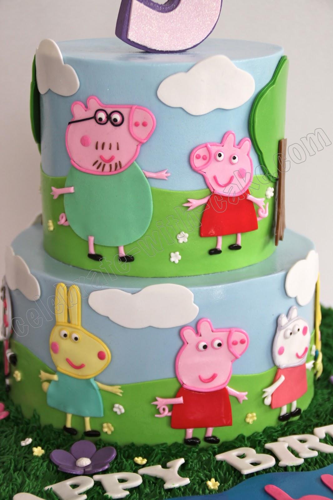 Pig Birthday Cake Alice