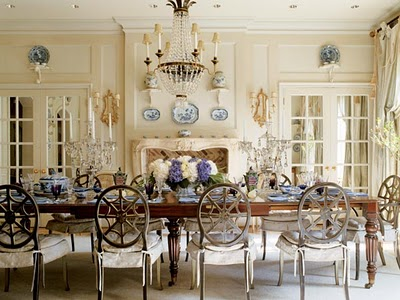 One of my all time favorites this gorgeous empire style chandelier is the crowning touch in this fabulous dining room cathy kincaid