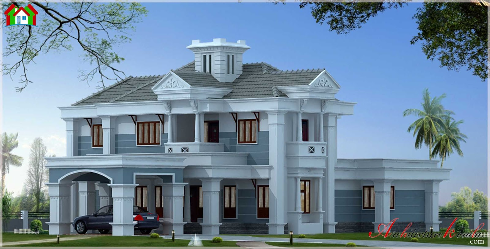 3000 square feet kerala house elevation architecture kerala for 3000 square foot home