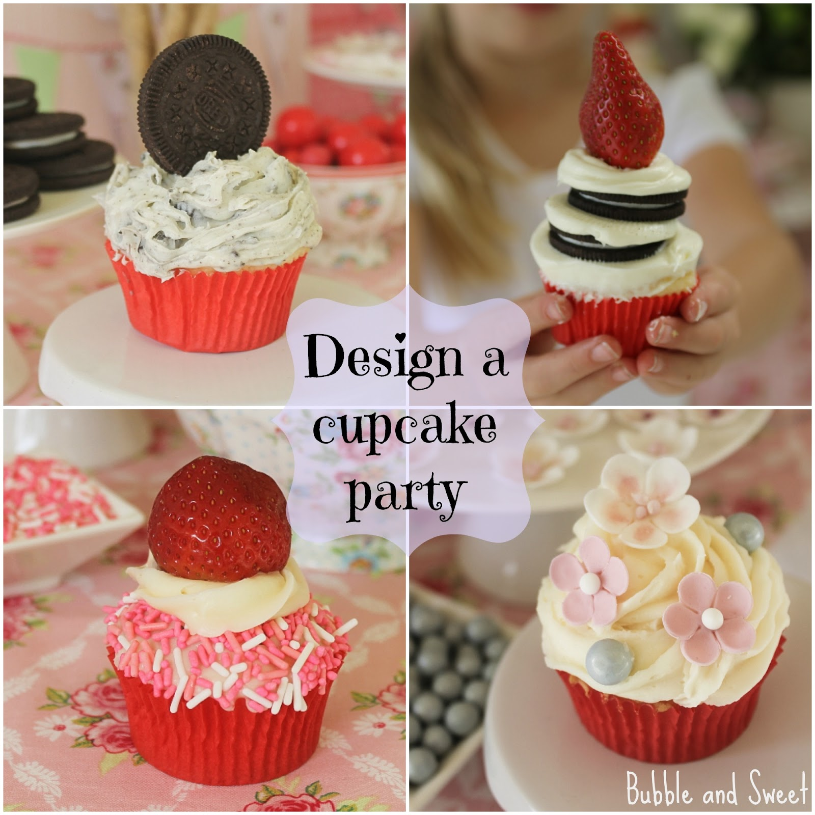 Cupcake Decorating Ideas Birthday : Bubble and Sweet: How to Host a Cupcake Decorating ...