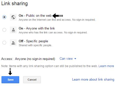 public link