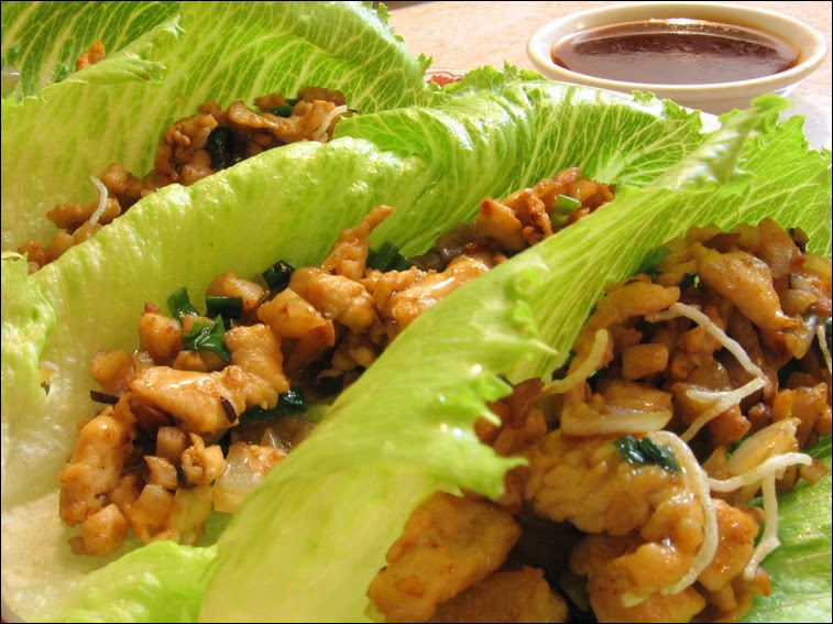 asian chicken lettuce wraps | fashionably foodie