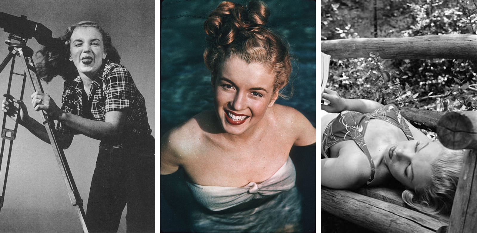 Pictures of a young Marilyn Monroe