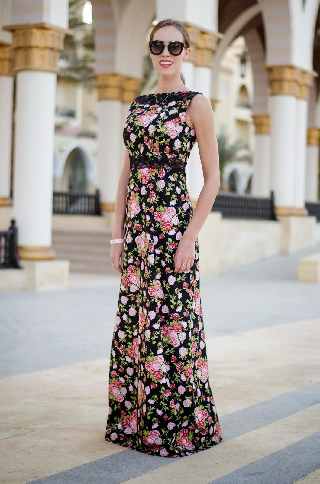kristjaana mere summer maxi dress floral lace