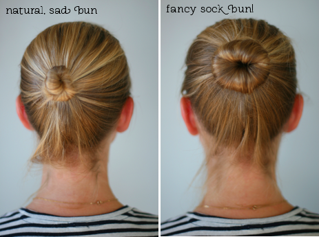 Perfect a Hair Bun with the Sock Trick
