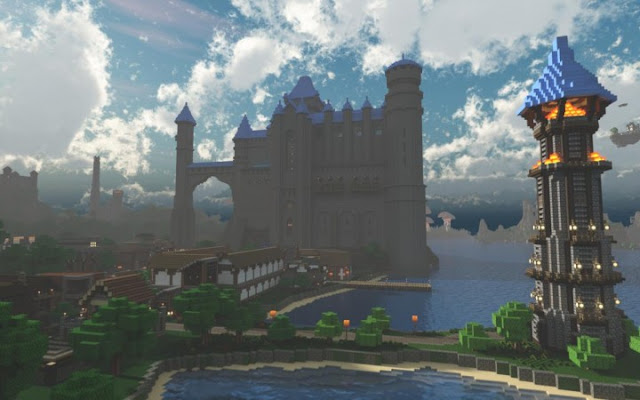 Fantasy kingdom, Minecraft castle build