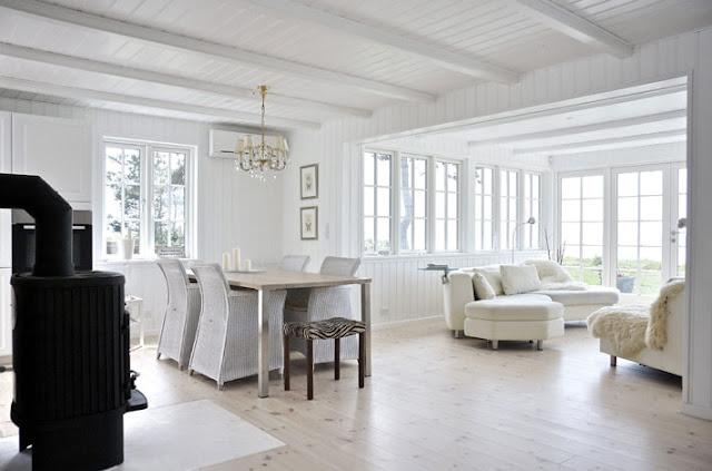 Amalie loves Denmark Ferienhaus in Dänemark Wohnzimmer