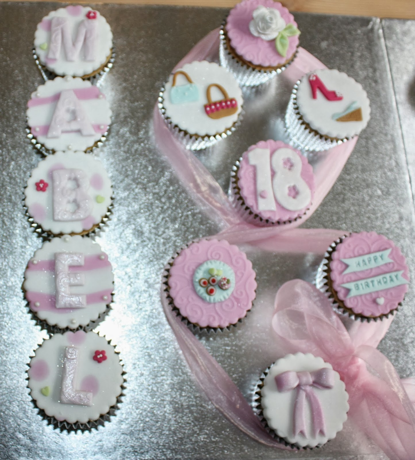 Angie S Cakes 18th Birthday Cupcakes For Twin Girls With
