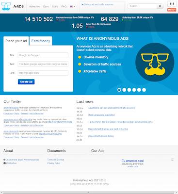 a-Ads - Gana bitcoins con la venta de espacios publicitarios en tu blog