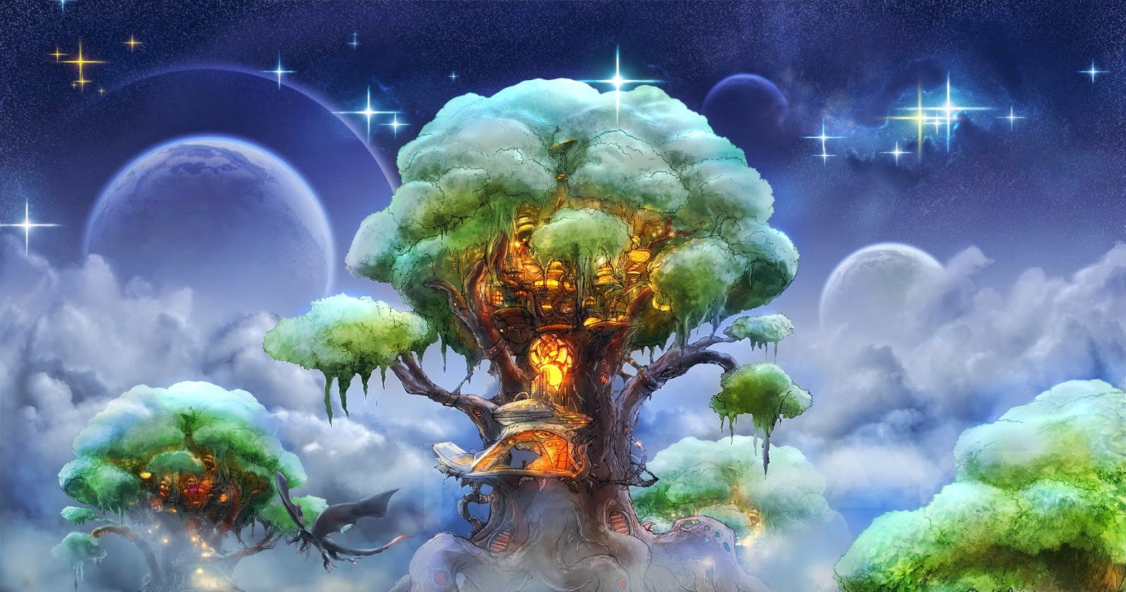 Tree-house-in-sky-dream-night-with-stars-image-picture.jpg