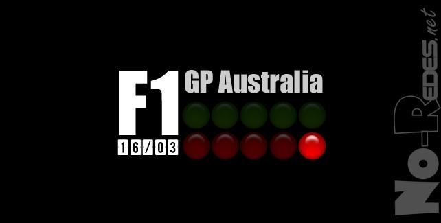 2014 de Fórmula 1 en  el circuito de Melbourne. Semáforo