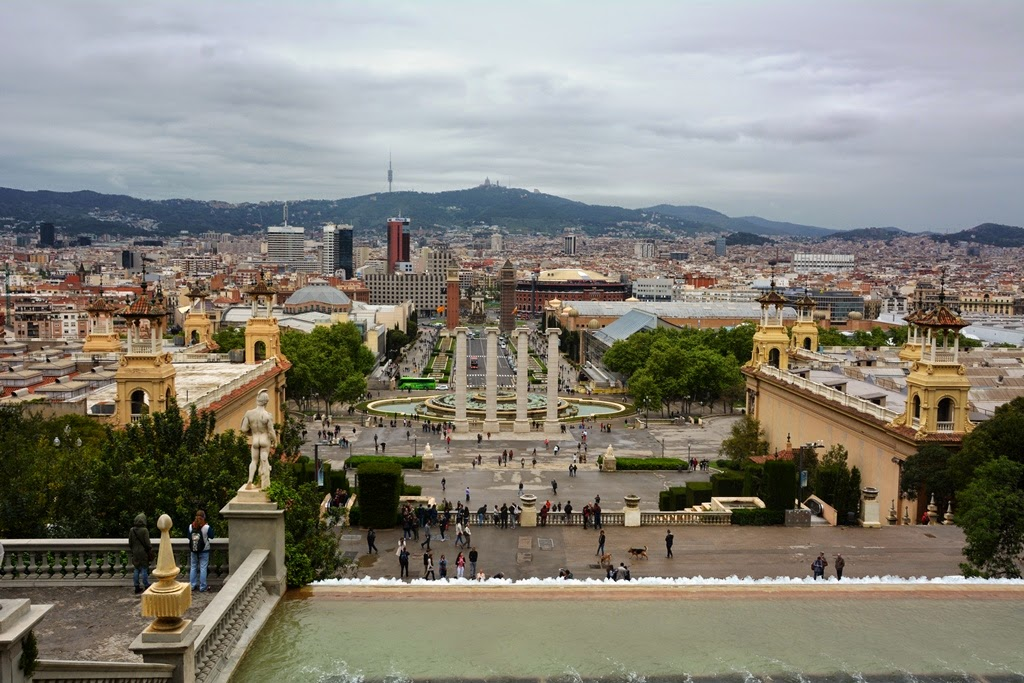 Palau National Barcelona view