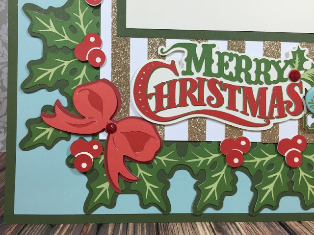 Cricut Christmas Holly Layout