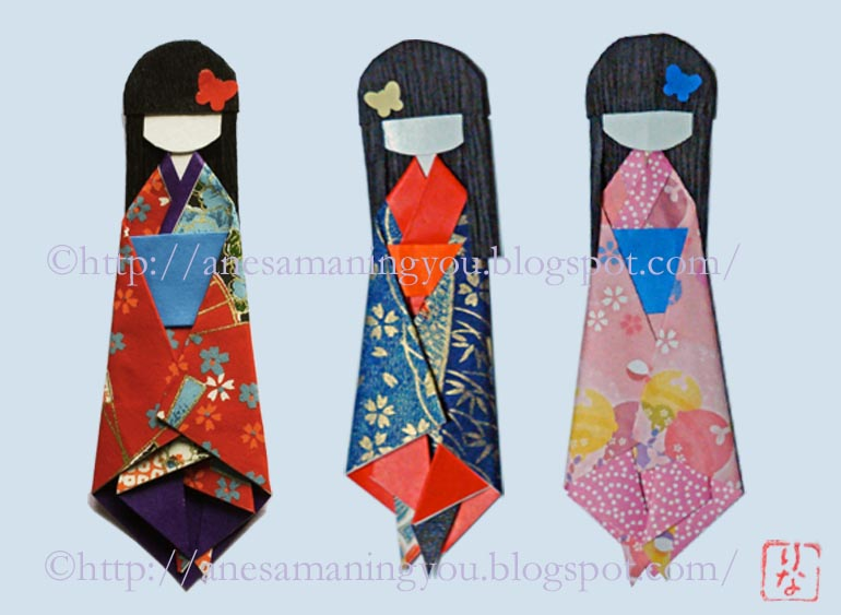 How to make a Japanese paper doll 01