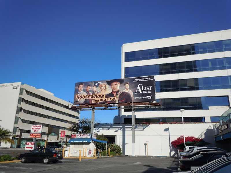 The A-List Dallas TV billboard