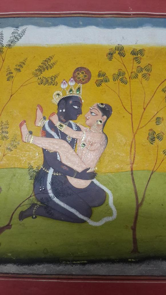The Pleasures of Krishna.Manaku's Geet Govind, c1730