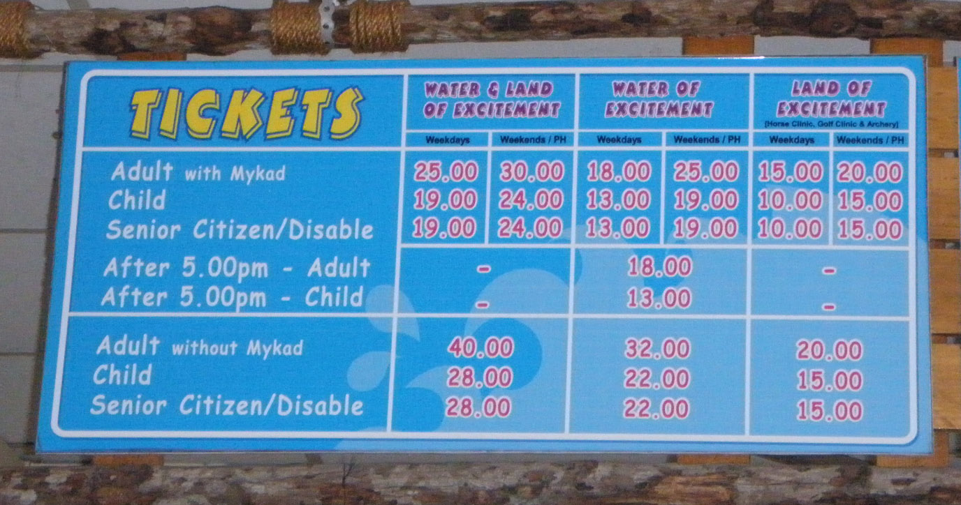 Tiket untuk masuk ke The Carnivall Sungai Petani amat menjimatkan
