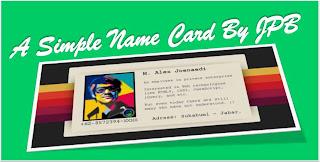 kartu nama, business card, css business card, membuat kartu nama dengan css