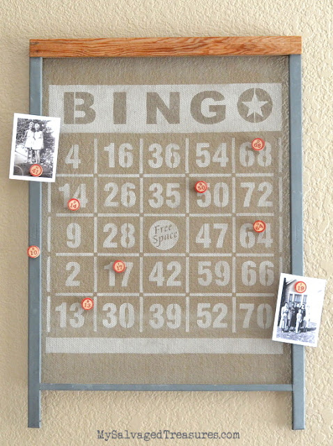Large Bingo stencil from #oldsignstencils at Funky Junk Interiors