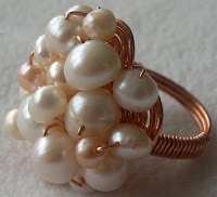 Vintage style ring by Louise Jakobsen