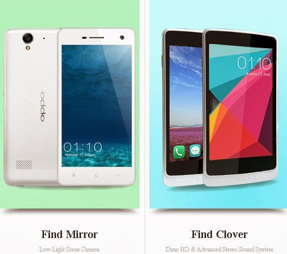 Oppo Find Mirror dan Oppo Find Clover