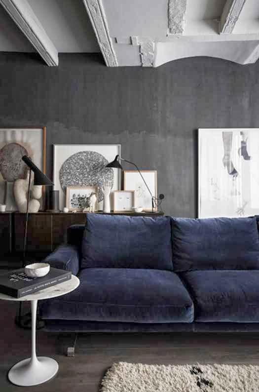 Grises en paredes siegfried interiorismo - Paredes grises ...