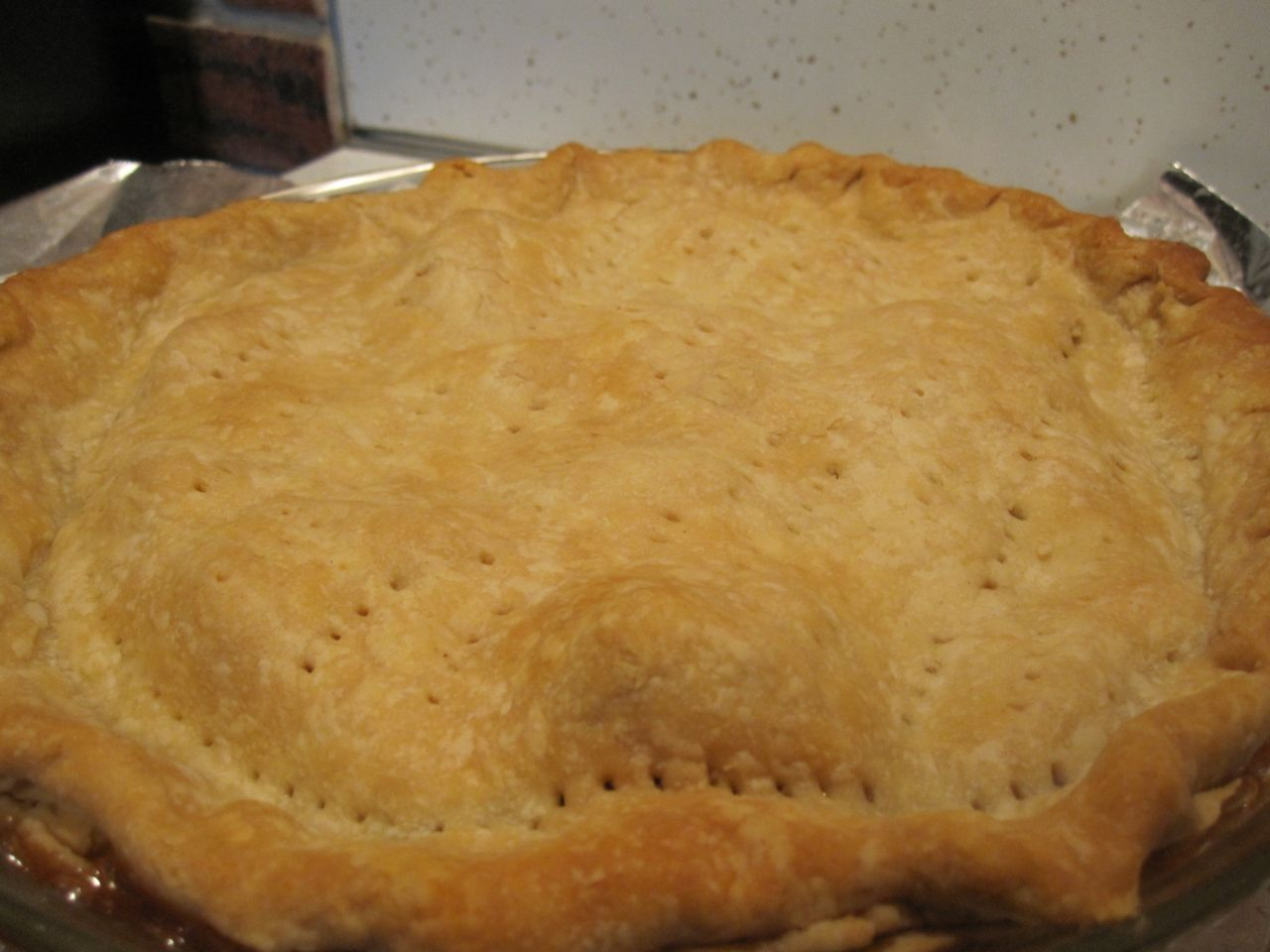 Rose of Sharon Garden: Mom's apple pie!