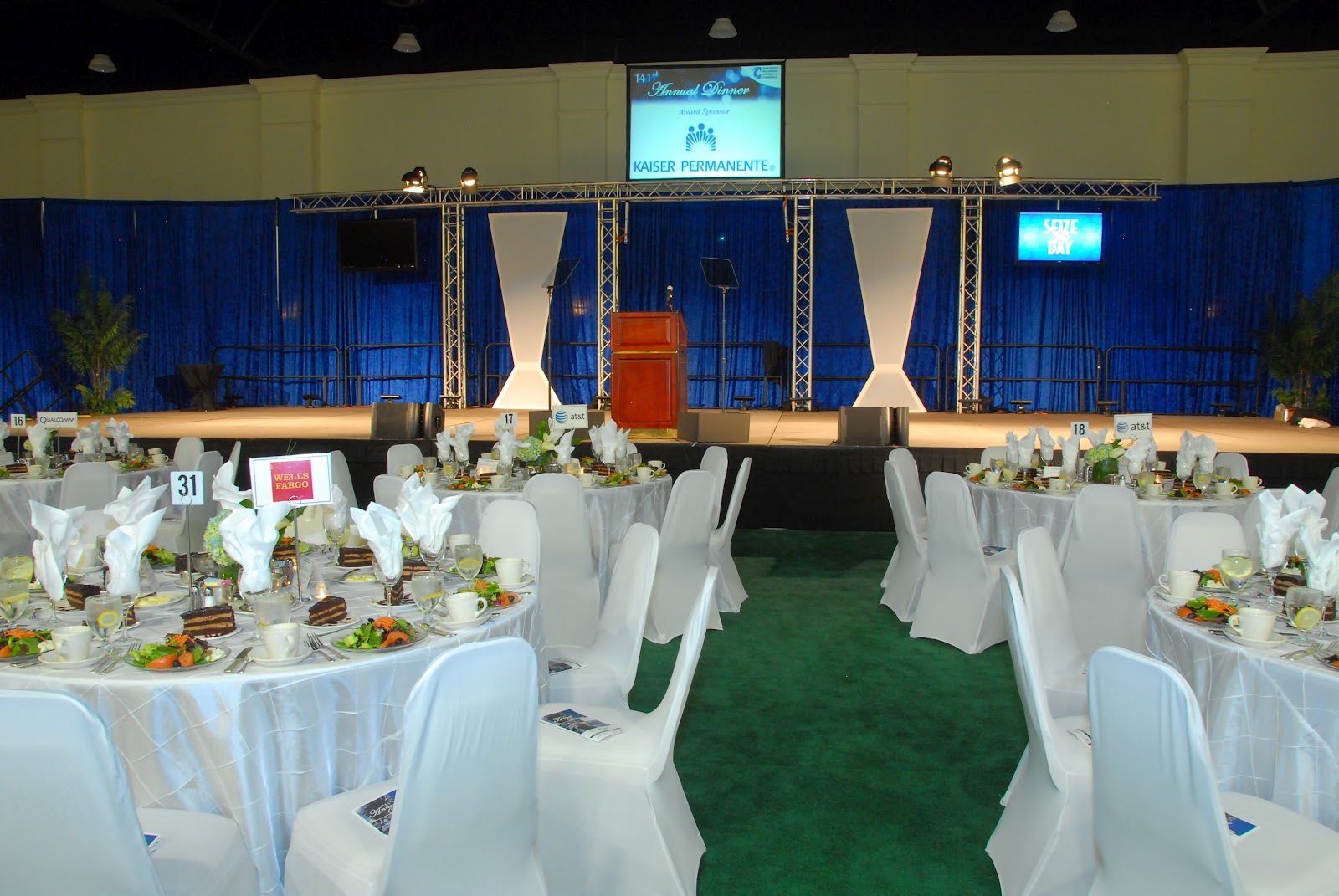 San diego event decor for Annual dinner decoration
