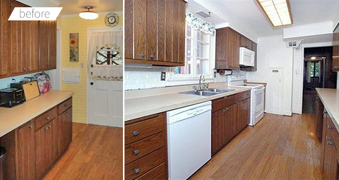 Modern White Eclectic Kitchen DIY Renovation Before and After