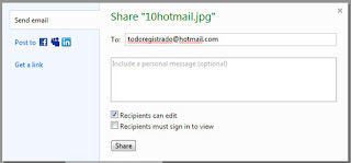 How to send photos on Hotmail with no attaching