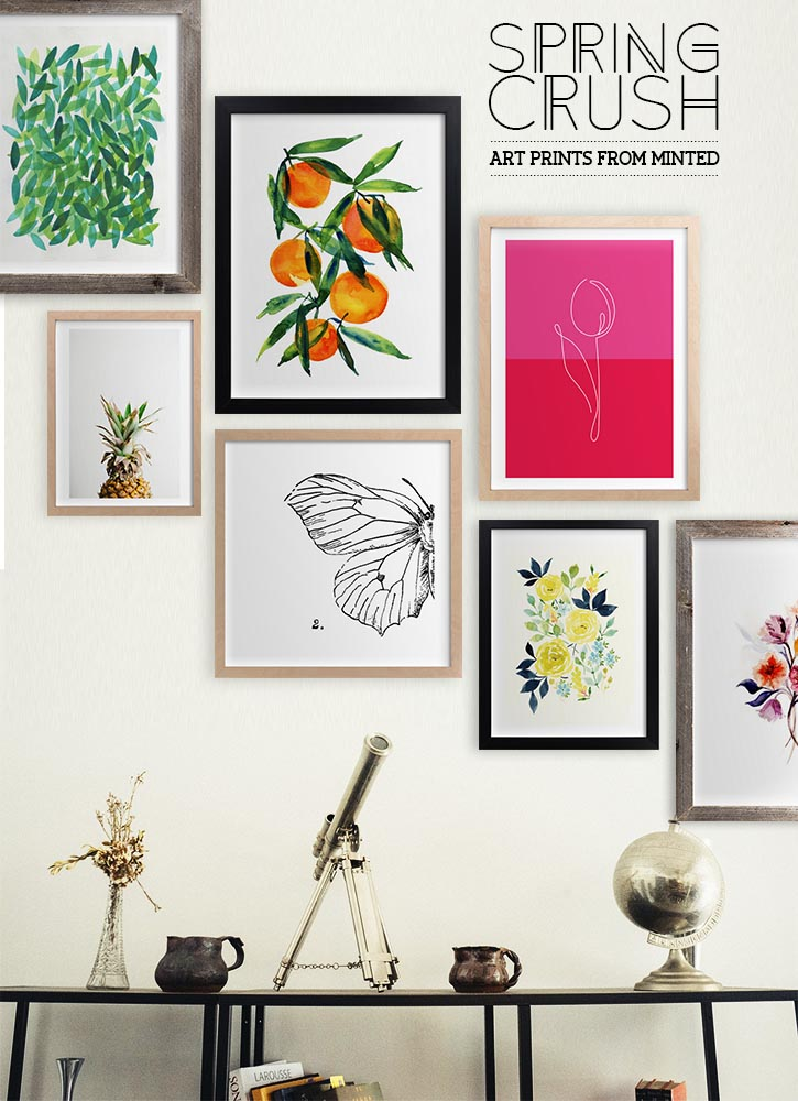 ON MY WISHLIST: Pattern Inspiration; Spring themed art prints from Minted  #interior #decor #art #inspiration
