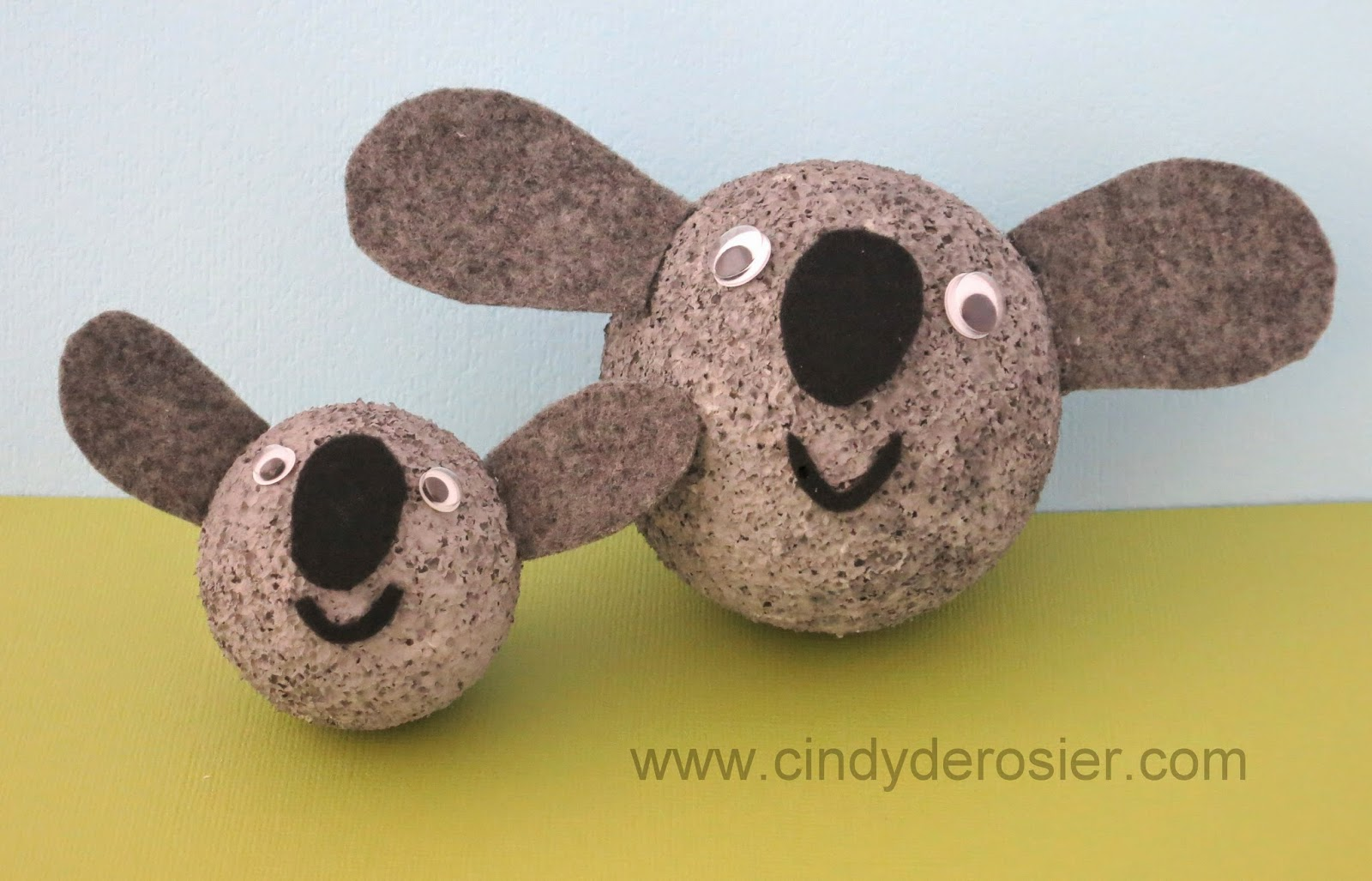 cindy derosier my creative life styrofoam koalas