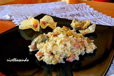 Risotto ai carciofi ricetta primi di riso piatto adatto alle feste