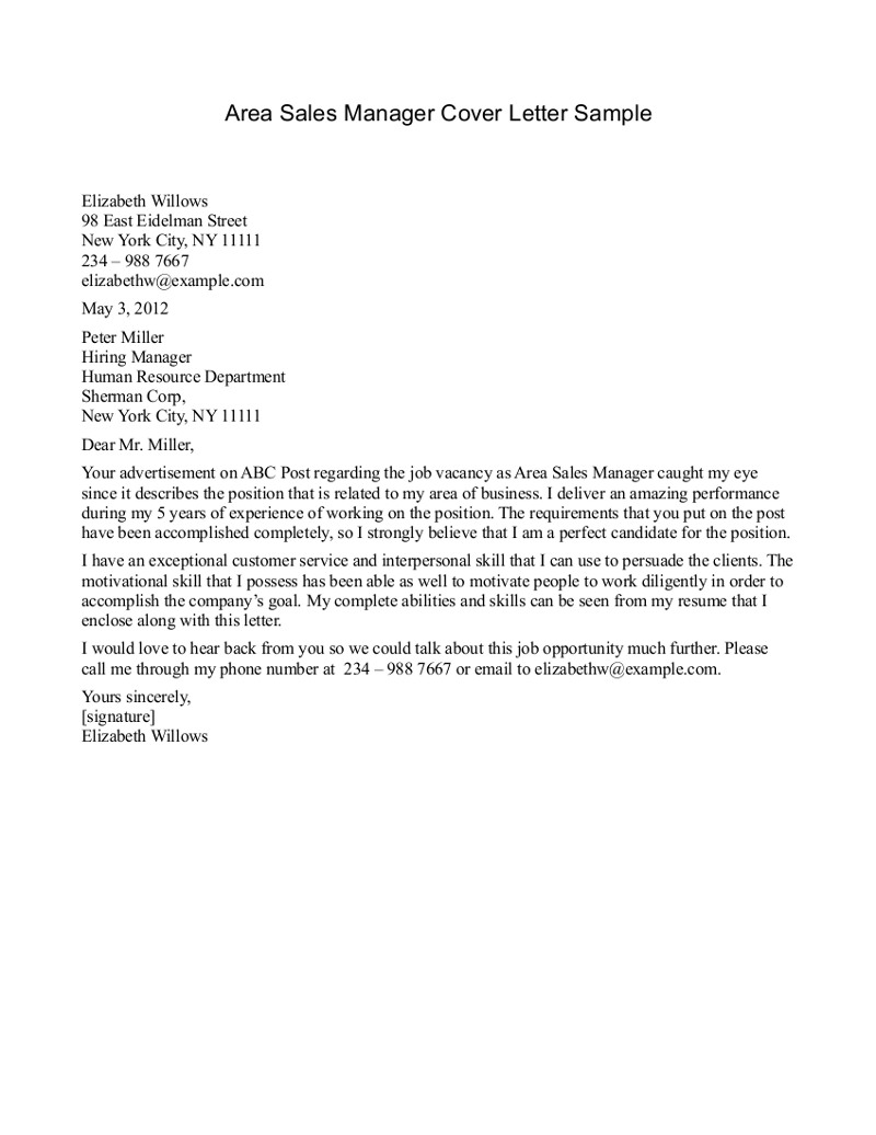 department manager cover letter sample 414 httptopresumeinfo - Good Cover Letter Introduction