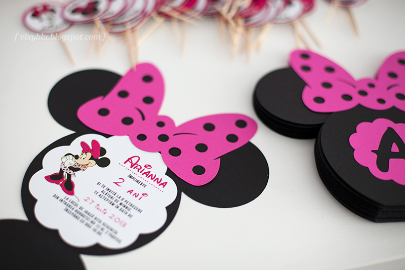 invitatie Minnie roz