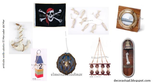 Art culos decorativos estilo n utico decoractual for Articulos decoracion nautica