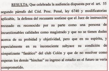 Fallo Recusación Juez Sánchez Gestión Lerche