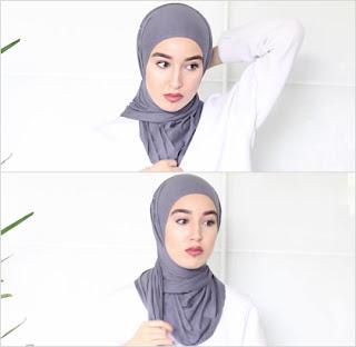 jilbab instan langkah 3