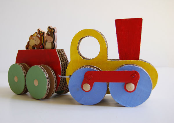 Игрушки из картона своими руками фото