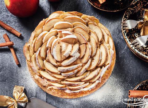 Placek owsiano - jabłkowy 'Róża' (bez glutenu)