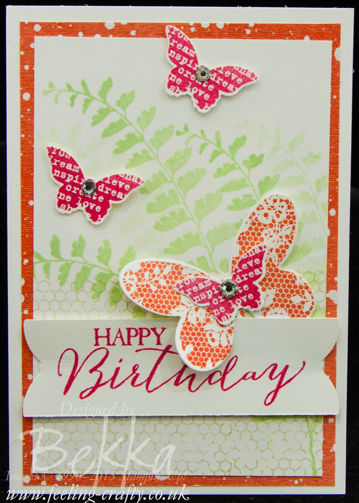 Butterfly Basics Birthday Card - check out this blog for lots of great ideas