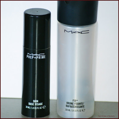 MAC, fix+, prep+prime, spray, skin base vizage