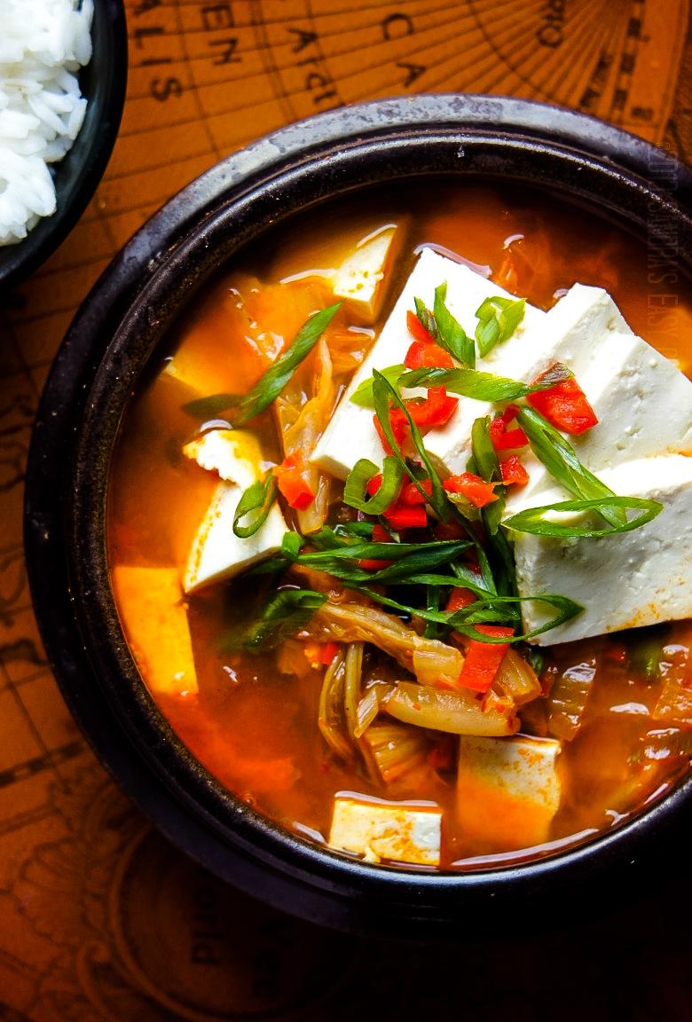 Delicous Korean Stew - Kimchi JjiGae