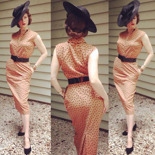 chic vintage clothing worn today by ChatterBlossom