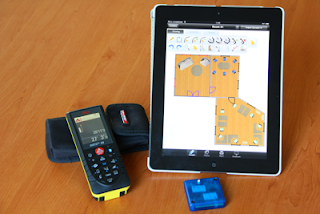 OrthoGraph Architect 3D iPad app with the Leica Disto D8 laser distance meter. and the SerialIO BlueSnap SPP-KEY Bridge